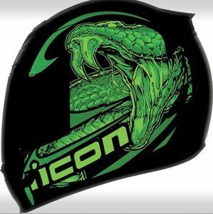 Brand new Icon glow in dark helmet