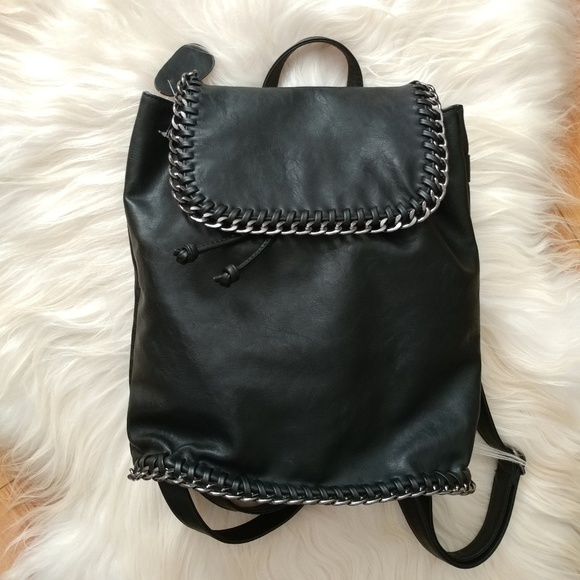 Nasty Gal Bags   Pm Editor Pick New Leather Chain Backpack   Poshmark 8436b1d184
