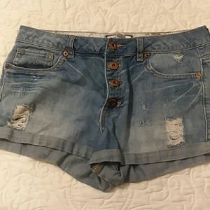 Forever 21 button down shorts - size 29