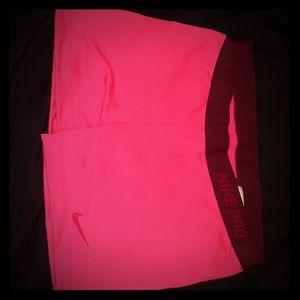 Nike pro workout women shorts XL