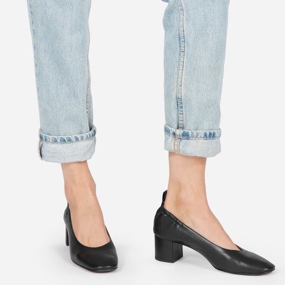 69e8b9f893d2 Everlane Day Heel Black leather pumps NWT 5