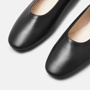 2dddaf81d65e Everlane Shoes - Everlane Day Heel Black leather pumps NWT 5