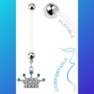 Jewelry - Pave Crown Pregnancy + 7 BioFlex Navel Rings