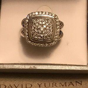 Authentic David Yurman with Pave Diamond Ring