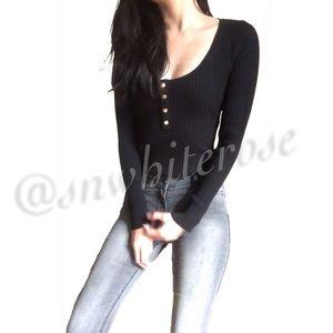 Chloe Black Long Sleeve Bodysuit