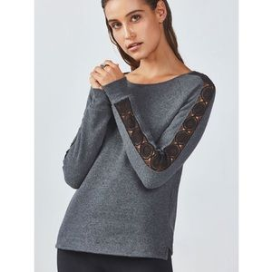 🆕 Fabletics Maura Open Back Pullover Sweatshirt
