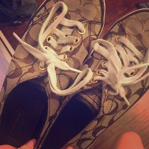 Tan Coach Sneakers