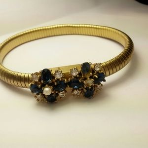 Juicy Couture Gold Tone Crystal Bangle
