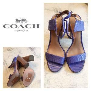 New Coach Blue Lexey Sandal Heels
