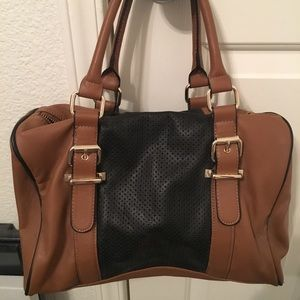 Tan and black purse from Express