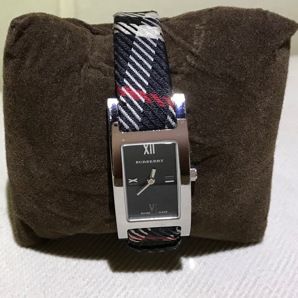 acbe7b1ff4b Burberry Accessories - Burberry black check fabric Watch