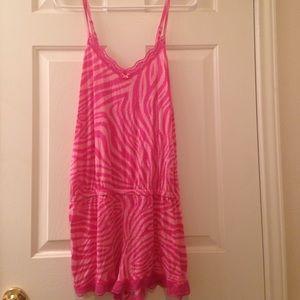 Pink sleepwear romper