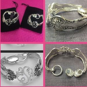 Jewelry - Antiqued Silver Filigree Initial Bracelet, NWT