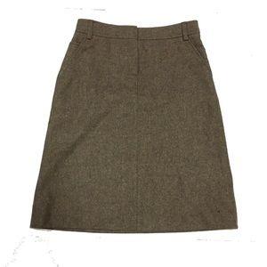 J. Crew Brown Tweed A-Line Mini Skirt
