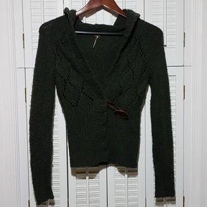 Free People Big Button Hoody Sweater