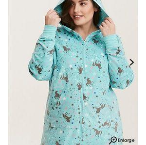 *SOLD* Torrid Unicorn Fleece Hooded Onesie Pajama