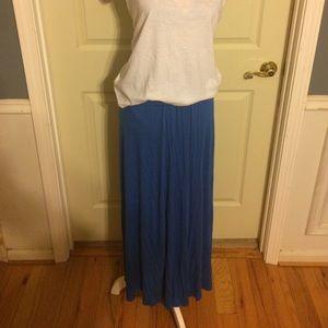A Royal Blue Maxi Skirt