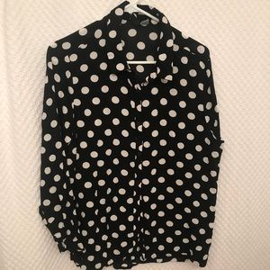 H&M Polka Dot Button Down Shirt