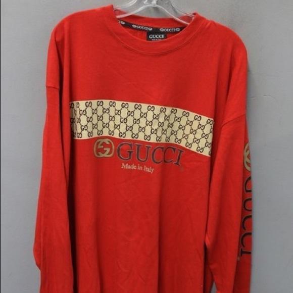 a146b5e71 Gucci Shirts | Vintage Mens Red Shirt Xl | Poshmark
