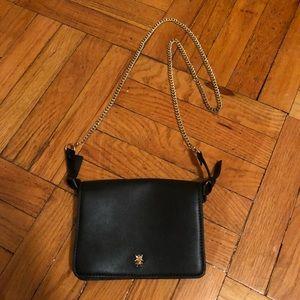 Zara Black Cross Body Bag / Purse with Chain Strap