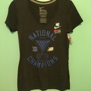 NWT Duke National Champions Nike V-Neck Top S