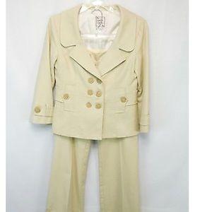 Nanette Lepore 2 Piece 3 Button  Suit Size 6