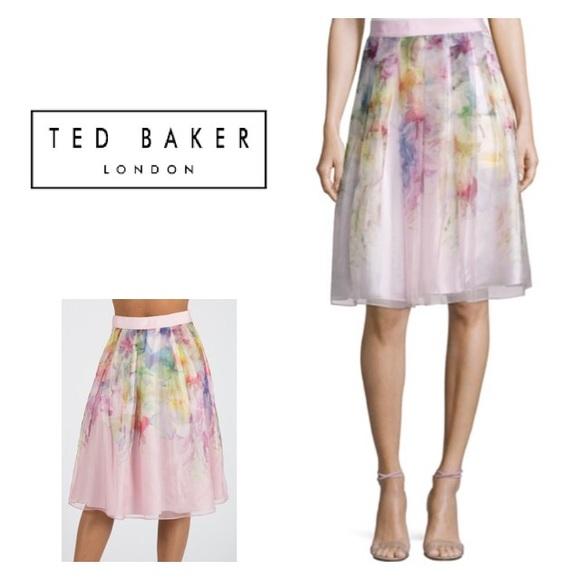 3dbf9fff384b6 New Ted Baker Glenis Hanging Gardens Midi Skirt