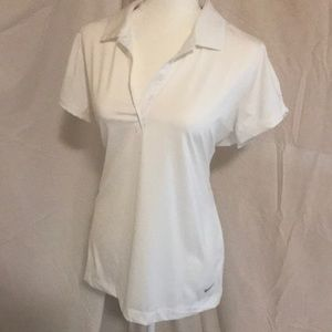 White Nike Golf Polo
