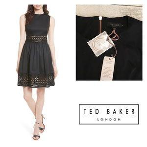 New Ted Baker Dayzey Fit & Flare Crochet Dress