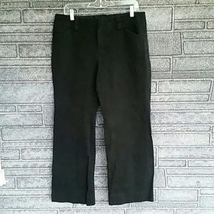 Gap stretch black curvy flare pants size 14A