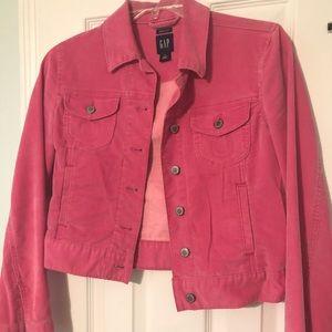 GAP Pink Corduroy Jacket