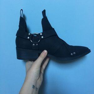 Matisse harness black vegan leather boots