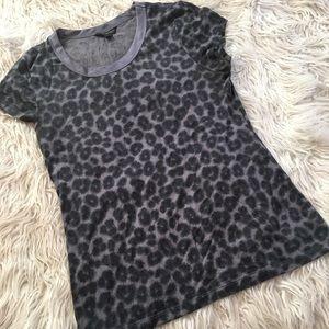 Banana republic leopard print shirt ~ size small