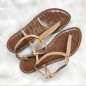 Sam Edelman Nude Patent Gigi Gladiator Sandal