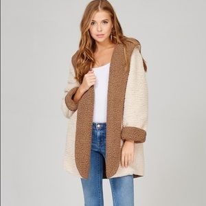 🆕Finley Mocha Nude Reversible Cozy Teddy Coat