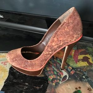 Just Fabulous sz 8.5 brown leather heels