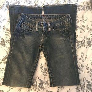 Bebe rhinestone jeans