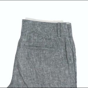 BANANA REPUBLIC Gray Linen Martin Fit Pant, Size 4