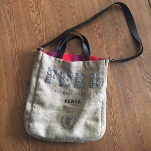 Handbags - Beaded/Reversible FEED Tote