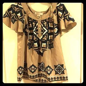 Michael Kors printed dress blouse.