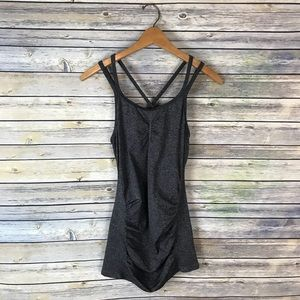 Calia Carrie Underwood Grey Strappy Workout Tank