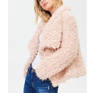 🆕Harmony Blush Pink Faux Fur Shaggy Teddy Jacket