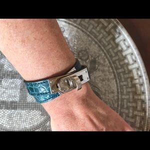 Hermes Kelly Double Tour Alligator Bracelet