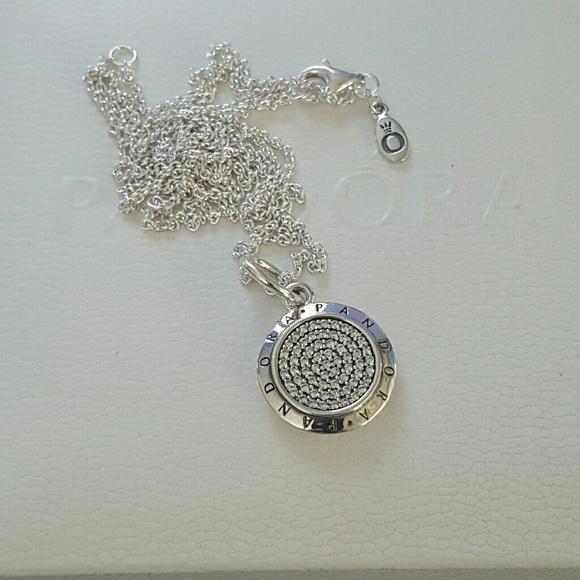1f444a125 pandora Jewelry | Authentic Big Signature Pendant Necklace | Poshmark