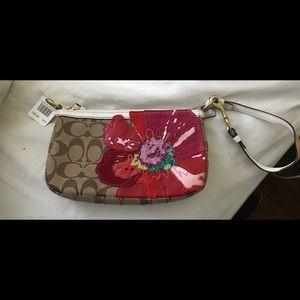 Coach limited edition Poppy flower purse