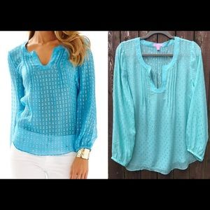 Lilly Pulitzer Colby Top, Large (damaged see pic)