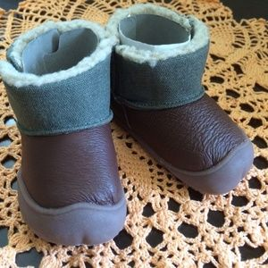 NWT Brown Shoes Boots Stage 1 Crawl Comfortable