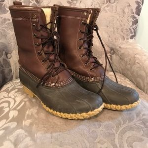 "Men's L.L. Bean Boots, 10"" Shearling Lined Boots"