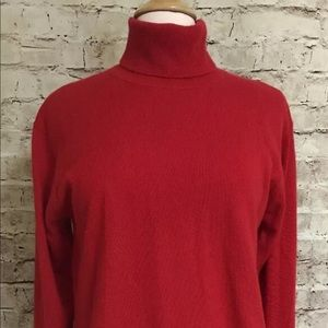 Valerie Stevens 100% Cashmere Red Turtleneck