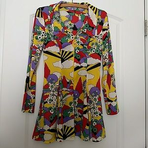 Psychedelic 70s Mini Dress